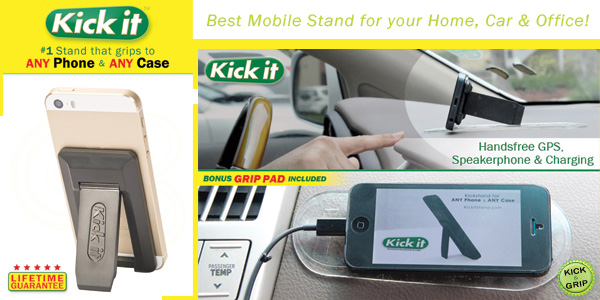 Cell Phone Kickstand For Any Model Phone Or Case