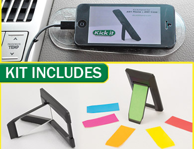 phone stand car mount kickit kit