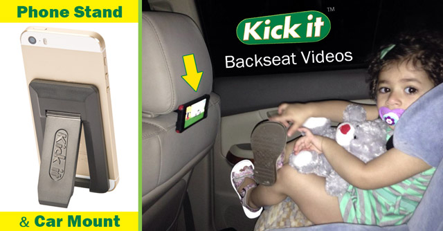 Kickit car mount backseat
