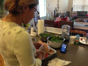 Kick it Hands Free Phone use In the Kitchen